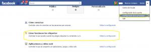 Configuracion seguridad Facebook
