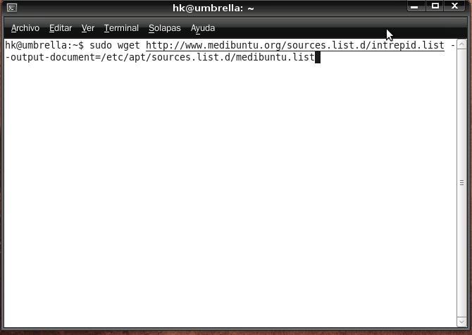 consola linux fuentes