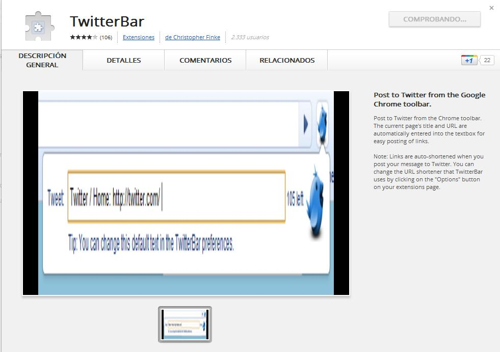 Twitter desde Google Chrome